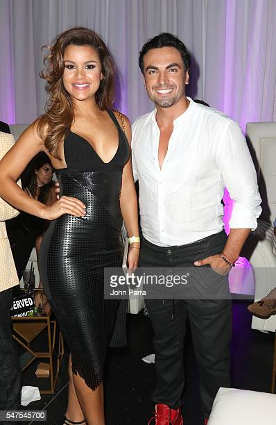 Actor Gabriel Valenzuela and Miss Dominican Republic Clarissa Molina attend McDonald's All Day Breakfast Bash At Premios Juventud After Party...