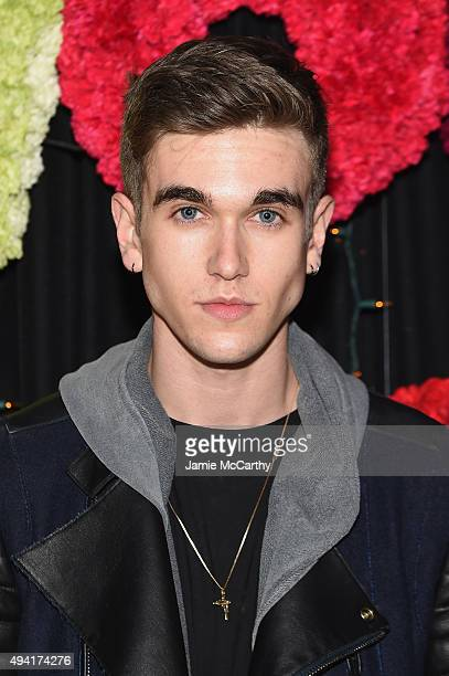 Actor GabrielKane DayLewis attends as Teen Vogue and Aerie celebrate Emma Roberts November Cover at 58 Gansevoort on October 24 2015 in New York City