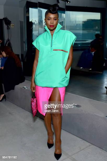 Actor Gabrielle UnionWade attends the Prada Resort 2019 fashion show on May 4 2018 in New York City