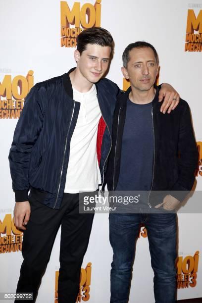 Actor Gad Elmaleh and his Son Noe Elmaleh attend 'Moi Moche et Mechant 3' Paris Premiere at Cinema Gaumont Marignan on June 27 2017 in Paris France