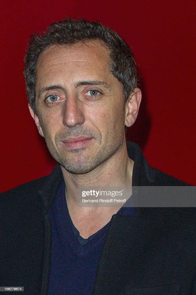 Actor Gad Elmaleh attends 'Le Capital' premiere at Gaumont Parnasse on November 12, 2012 in Paris, France.