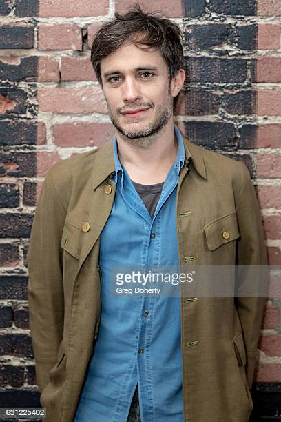 Actor Gael García Bernal poses for a picture before the American Cinematheque Panel Discussion With Golden Globe Nominated Foreign-Language Directors...