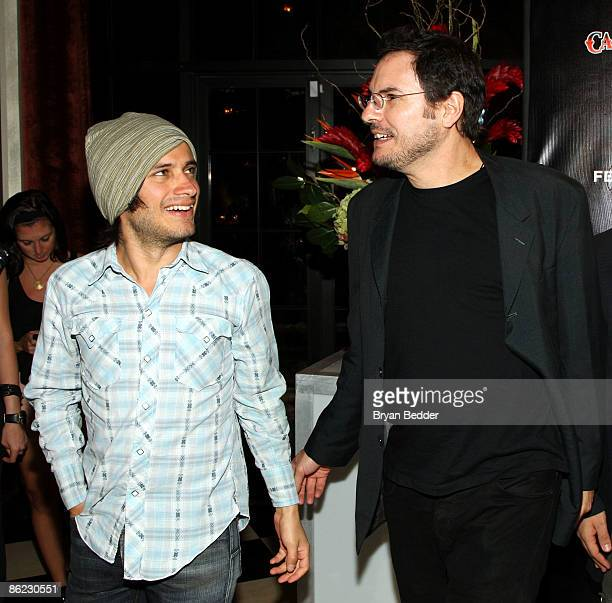 Actor Gael Garcia Bernal and director Carlos Cuaron attend the after party for Rudo Y Cursi during the 2009 Tribeca Film Festival at Bar Artisanal on...