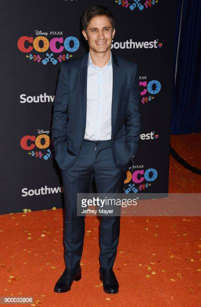 Actor Gael Garcia Bernal arrives at the premiere of Disney Pixar's 'Coco' at El Capitan Theatre on November 8 2017 in Los Angeles California