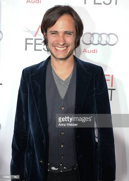 Actor Gael Garcia Bernal arrives to the AFI Fest 2010 Screening Of 'Abel' Red Carpet at Grauman's Chinese Theatre on November 7 2010 in Hollywood...