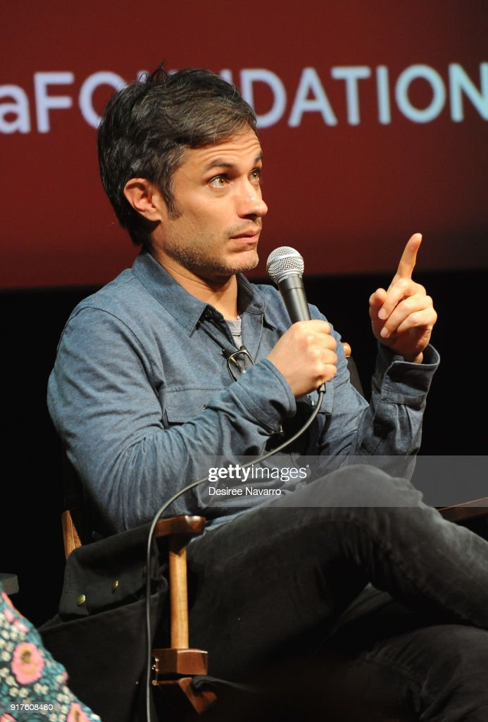 Actor Gael Garcia Bernal attends SAG-AFTRA Foundation Conversations: 'Mozart In The Jungle' at The Robin Williams Center on February 12, 2018 in New York City.