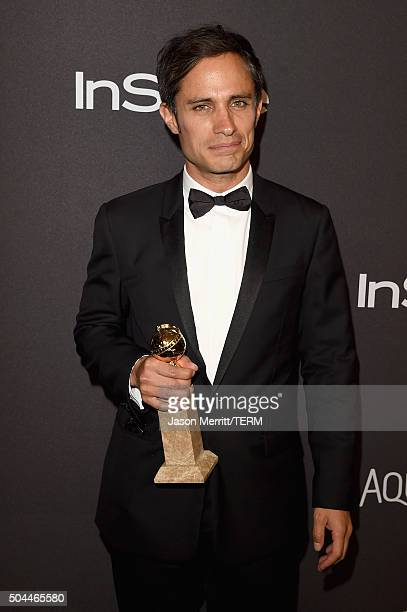 Actor Gael Garcia Bernal attends The 2016 InStyle And Warner Bros 73rd Annual Golden Globe Awards PostParty at The Beverly Hilton Hotel on January 10...