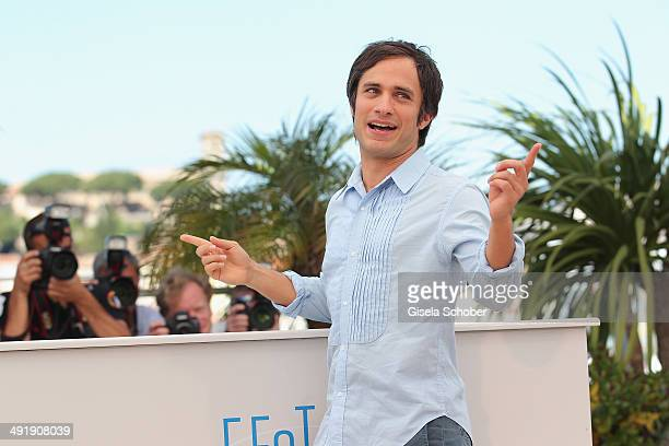 Actor Gael Garcia Bernal attends 'The Disappearance of Eleanor Rigby' photocall at the 67th Annual Cannes Film Festival on May 18 2014 in Cannes...