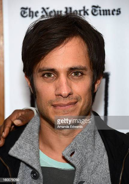 Actor Gael Garcia Bernal attends the Film Independent At LACMA free screening of 'No' copresented by The New York Times Film Club at the Bing Theatre...