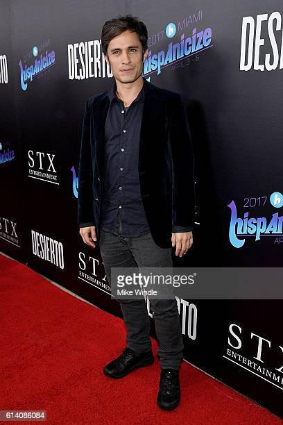 Actor Gael Garcia Bernal attends the screening of STX Entertainment's Desierto at Regal LA Live Stadium 14 on October 11 2016 in Los Angeles...