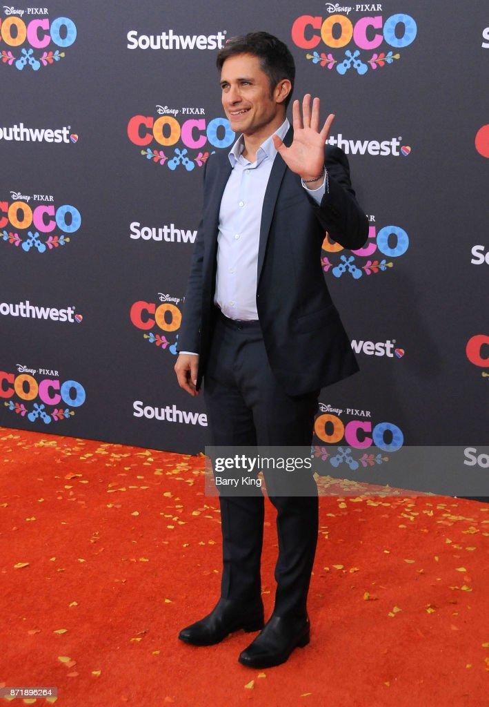 Actor Gael Garcia Bernal attends the U.S. Premiere of Disney Pixar's 'Coco' at El Capitan Theatre on November 8, 2017 in Los Angeles, California.