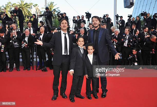 Actor Gael Garcia Bernal Christopher RuizEsparza and Gerardo RuizEsparza with director Diego Luna attend the Abel Premiere at the Palais des...