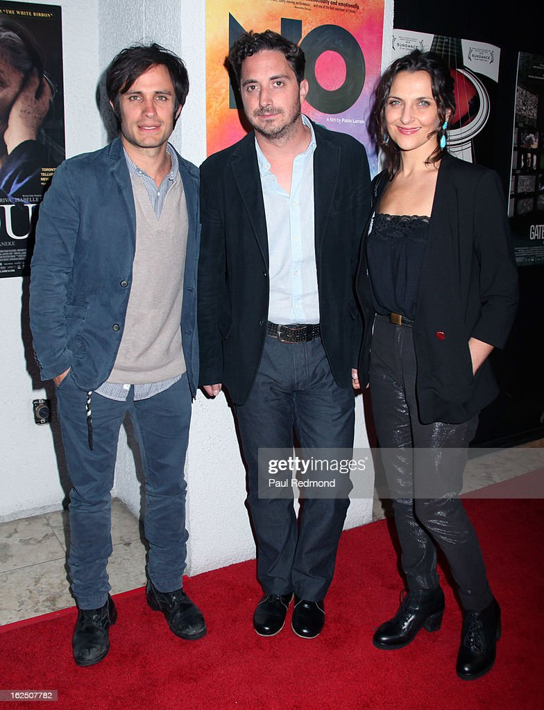 Actor Gael Garcia Bernal, director Pablo Larrain and actress Antonia Zegers attend Sony Pictures Classics Pre-Oscar Dinner at The London Hotel on February 23, 2013 in West Hollywood, California.