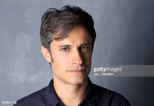 Actor Gael Garcia Bernal from the film 'Neruda' poses for a portraits at the Toronto International Film Festival for Los Angeles Times on September...
