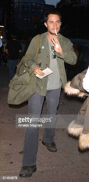 Actor Gael Garcia Bernal from the new movie 'The Motorcycle Diaries' where he plays the role of Ernesto Che Guevara walking in SoHo Manhattan...