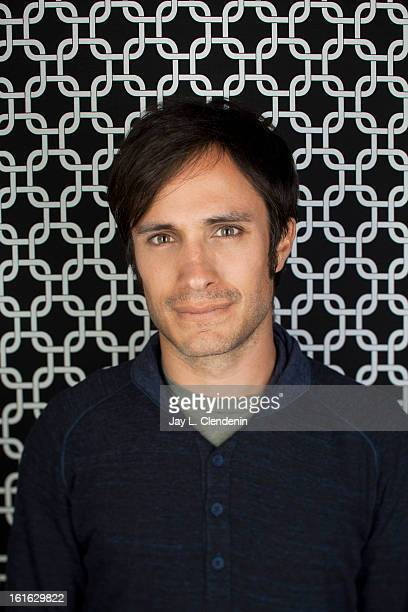 Actor Gael Garcia Bernal is photographed at the Sundance Film Festival for Los Angeles Times on January 18 2013 in Park City Utah PUBLISHED IMAGE...