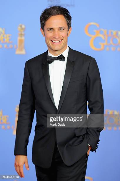 Actor Gael Garcia Bernal of Mozart in the Jungle poses in the press room during the 73rd Annual Golden Globe Awards held at the Beverly Hilton Hotel...