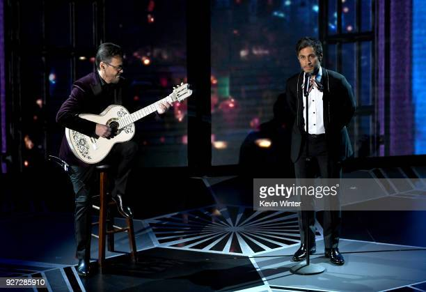 Actor Gael Garcia Bernal performs onstage during the 90th Annual Academy Awards at the Dolby Theatre at Hollywood Highland Center on March 4 2018 in...