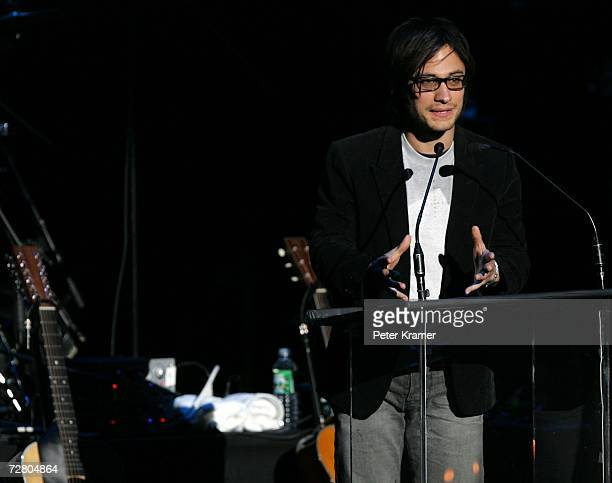 Actor Gael Garcia Bernal speaks at the second annual gala dinner and concert to benefit Witness which helps promote human rights causes worldwide...