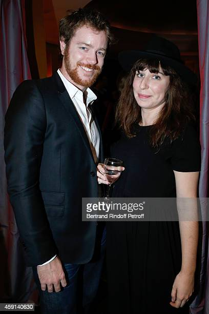 Actor Gael Giraudeau and Anne Auffret attend the Cocktail for the Cinema Award 2014 of Foundation Diane Lucien Barriere given to the movie 'Les...