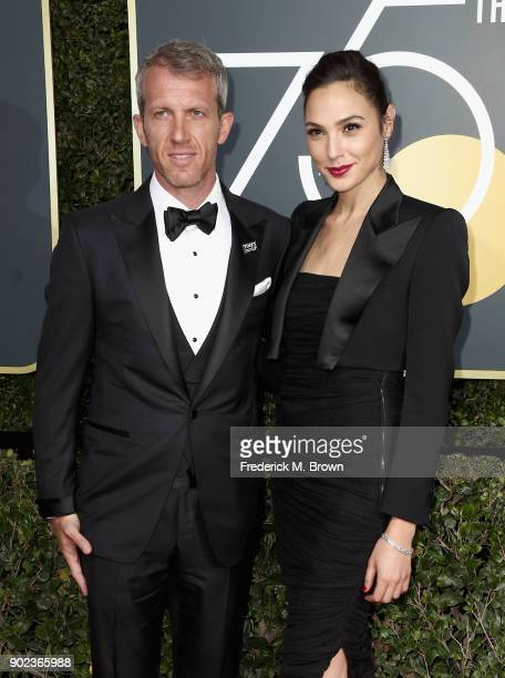 Actor Gal Gadot and Yaron Versano attend The 75th Annual Golden Globe Awards at The Beverly Hilton Hotel on January 7 2018 in Beverly Hills California