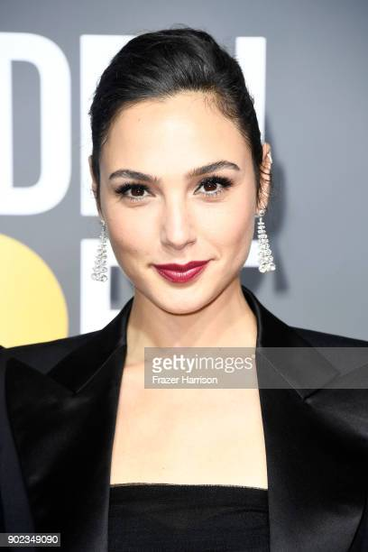 Actor Gal Gadot attends The 75th Annual Golden Globe Awards at The Beverly Hilton Hotel on January 7 2018 in Beverly Hills California