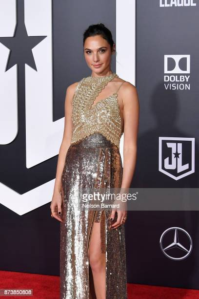 Actor Gal Gadot attends the premiere of Warner Bros Pictures' Justice League at Dolby Theatre on November 13 2017 in Hollywood California
