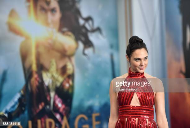 Actor Gal Gadot attends the premiere of Warner Bros Pictures' Wonder Woman at the Pantages Theatre on May 25 2017 in Hollywood California