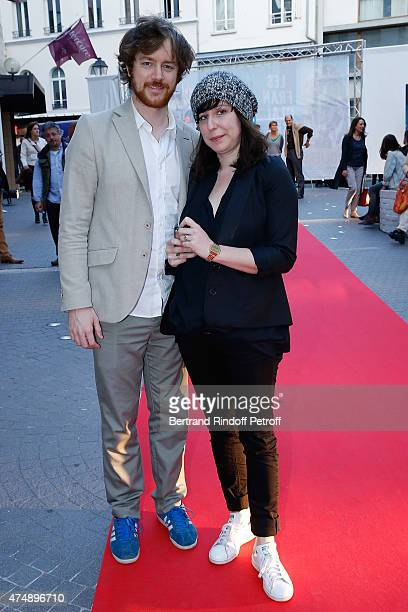 Actor Gal Giraudeau and Actress Anne Auffret attend 'Les Franglaises' last show after 4 months of representation at Bobino on May 27 2015 in Paris...