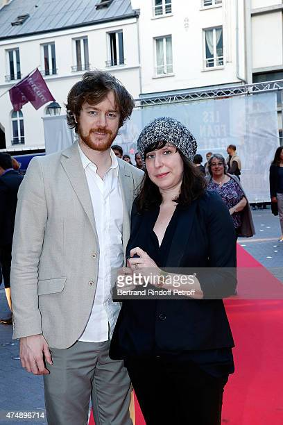 Actor Gal Giraudeau and Actress Anne Auffret attend Les Franglaises last show after 4 months of representation at Bobino on May 27 2015 in Paris...