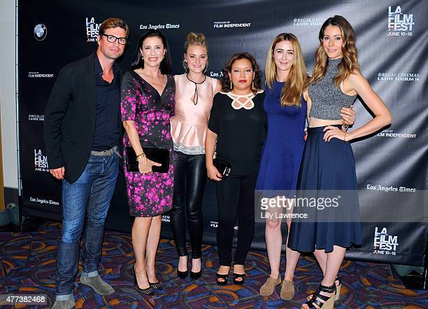 Actor Gale Harold actress Mimi Rogers actress AJ Michalka Claudia Flores actress Madeline Zima and actress Amanda Crew attend the 'Weepah Way for...