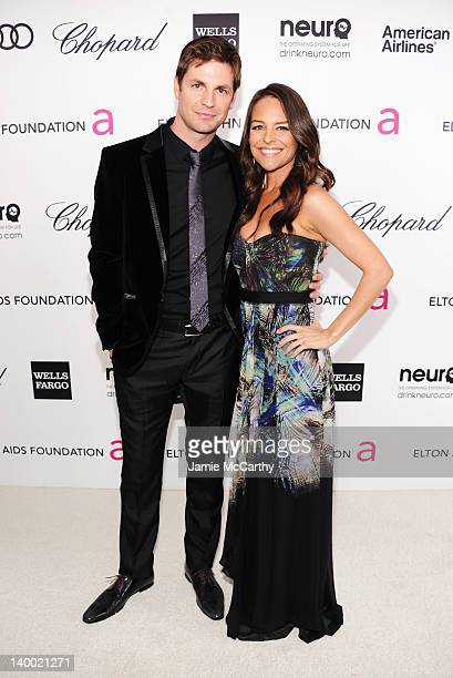 Actor Gale Harold and Yara Martinez arrive at the 20th Annual Elton John AIDS Foundation Academy Awards Viewing Party at The City of West Hollywood...