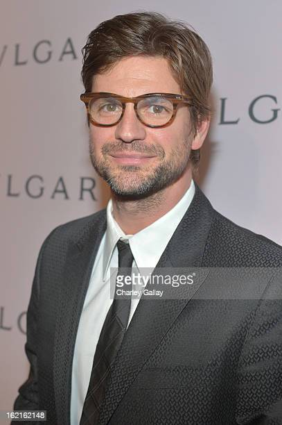 Actor Gale Harold arrives at the BVLGARI celebration of Elizabeth Taylor's collection of BVLGARI jewelry at BVLGARI Beverly Hills on February 19 2013...