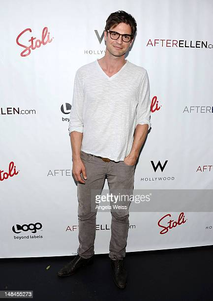 Actor Gale Harold attends Logo's AfterEllen AfterElton Inaugural Hot 100 Party at Station Hollywood at W Hollywood Hotel on July 16 2012 in Hollywood...
