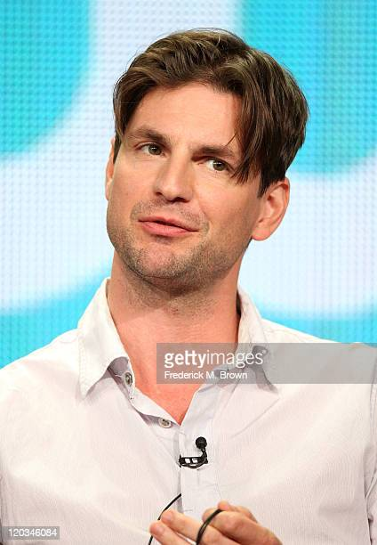 Actor Gale Harold speaks during 'The Secret Circle' panel during the CW portion of the 2011 Summer TCA Tour held at the Beverly Hilton Hotel on...