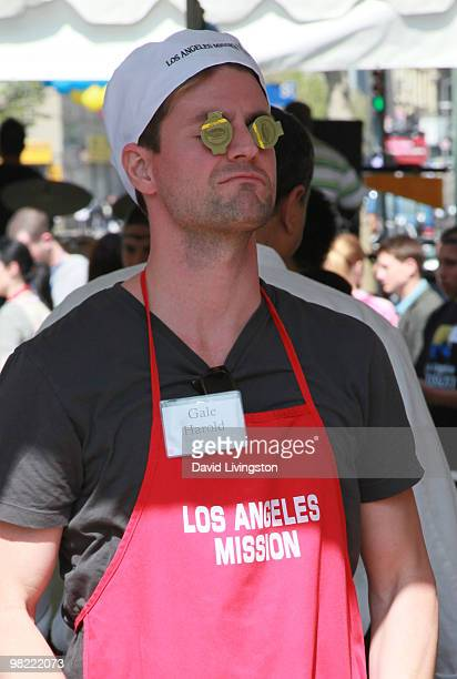 Actor Gale Harold volunteers at the Los Angeles Mission during Easter on April 2 2010 in Los Angeles California