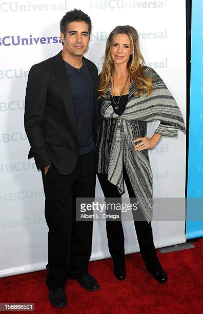 Actor Galen Gering and wife Jenna Hudlett participate in the NBC Universal Winter Tour AllStar Party held at The Athenaeum on January 06 2012 in...