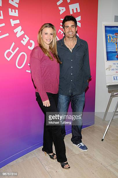 Actor Galen Gering arrives with wife Jenna at the launch party for Executive Producer Ken Corday's new book The Days Of Our Lives The Untold Story of...