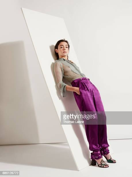 Actor Garance Marillier is photographed on April 17 2017 in Paris France