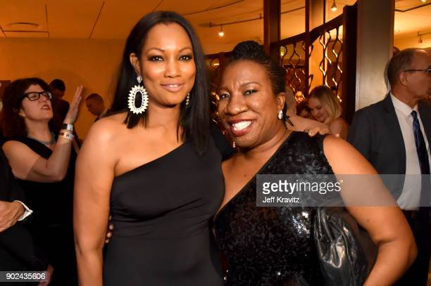 Actor Garcelle Beauvais and activist Tarana Burke attend HBO's Official 2018 Golden Globe Awards After Party on January 7 2018 in Los Angeles...