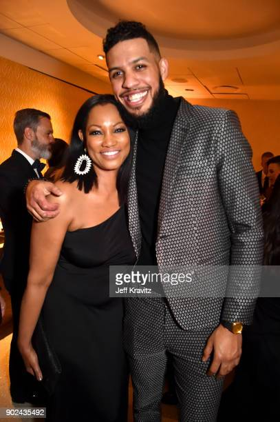 Actor Garcelle Beauvais and guest attend HBO's Official 2018 Golden Globe Awards After Party on January 7 2018 in Los Angeles California