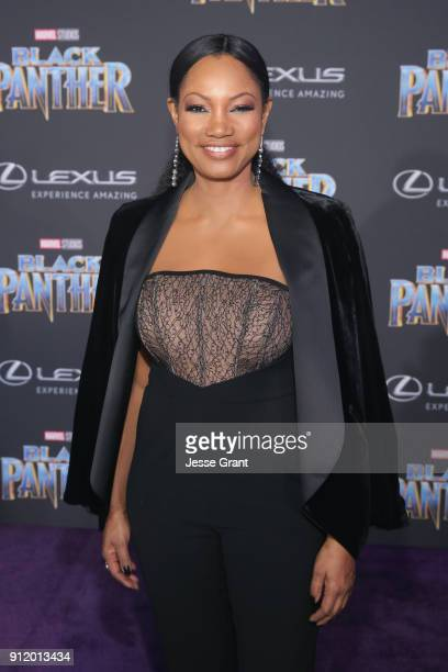 Actor Garcelle Beauvais at the Los Angeles World Premiere of Marvel Studios' BLACK PANTHER at Dolby Theatre on January 29 2018 in Hollywood California