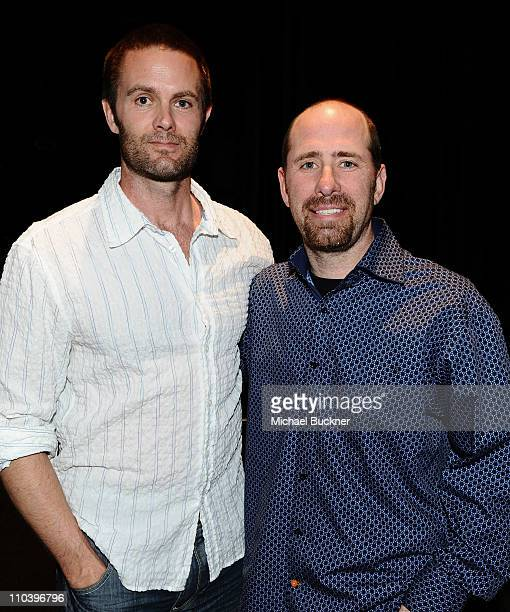 Actor Garret Dillahunt and creator Greg Garcia attend the Paley Center for Media's Paleyfest 2011 Event honoring Raising Hope at the Saban Theatre on...