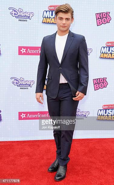 Actor Garrett Clayton arrives at the 2015 Radio Disney Music Awards at Nokia Theatre LA Live on April 25 2015 in Los Angeles California