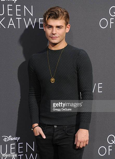 Actor Garrett Clayton arrives at the premiere of Disney's 'Queen Of Katwe' at the El Capitan Theatre on September 20 2016 in Hollywood California