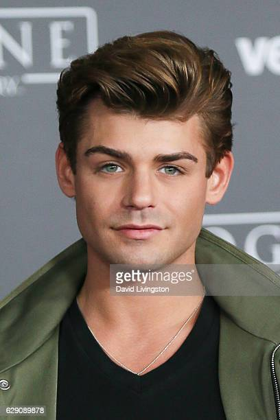 Actor Garrett Clayton arrives at the premiere of Walt Disney Pictures and Lucasfilm's Rogue One A Star Wars Story at the Pantages Theatre on December...