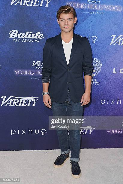 Actor Garrett Clayton arrives at Variety's Power Of Young Hollywood at NeueHouse Hollywood on August 16 2016 in Los Angeles California