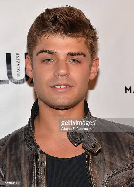 Actor Garrett Clayton arrives to Genlux Magazine's Issue Release party featuring Erika Christensen at The Sofitel Hotel on August 29 2013 in Los...