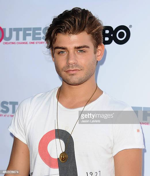 Actor Garrett Clayton attends the premiere of 'Jenny's Wedding' at the 2015 Outfest Los Angeles LGBT Film Festival at Directors Guild Of America on...