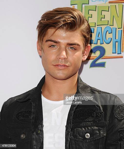 Actor Garrett Clayton attends the premiere of 'Teen Beach 2' at Walt Disney Studios on June 22 2015 in Burbank California